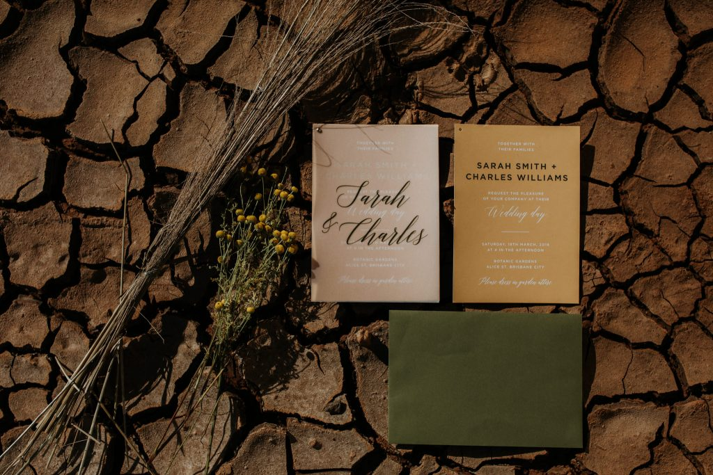 Wedding invitation by Paperless Brisbane Inspiration Styled Photoshoot styled by Foreva Events